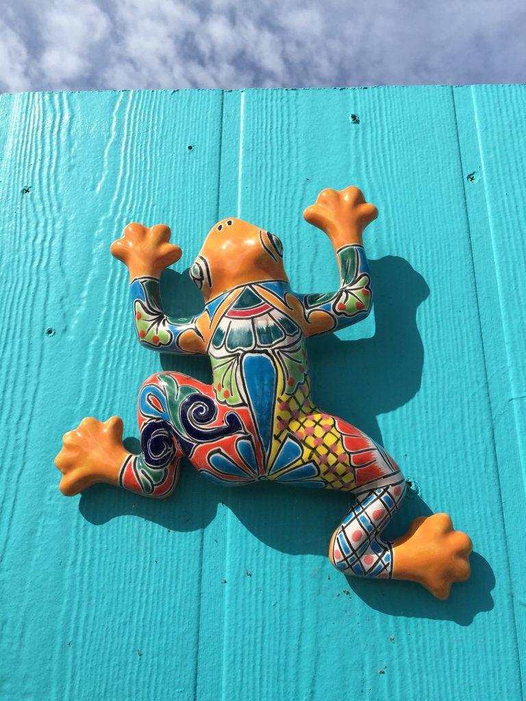 Kunstgecko an Wand Berts Bar Cape Coral
