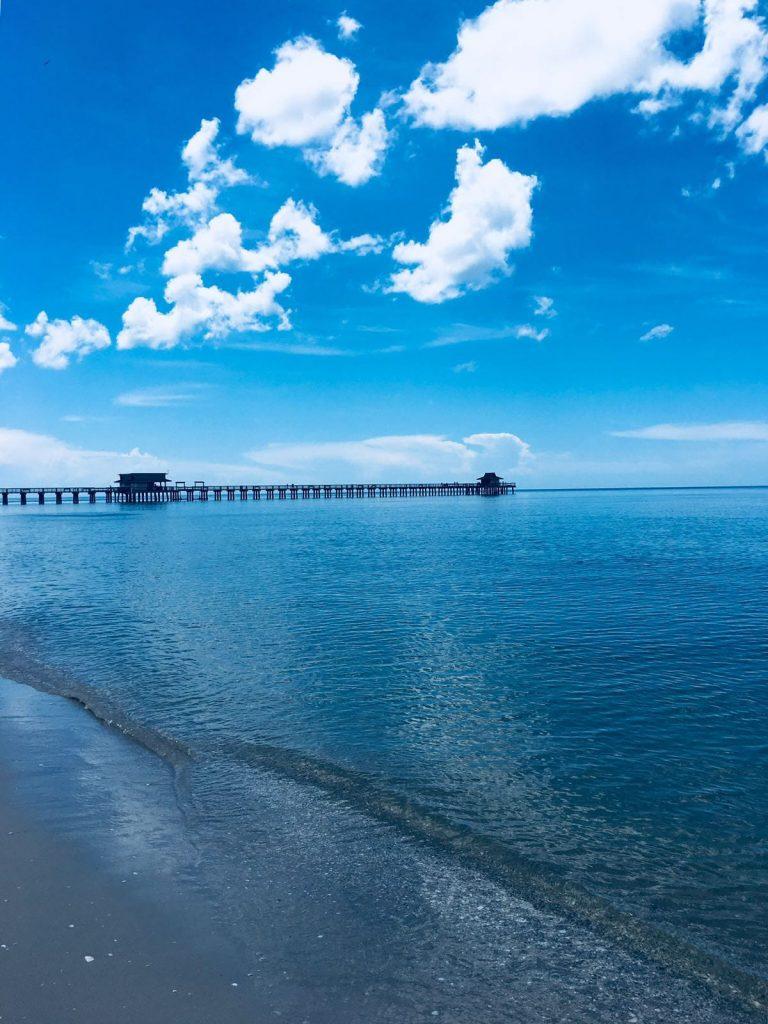 In Naples nahe zu Cape Coral am Strand