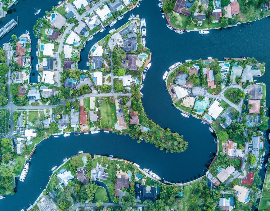 Kanal von Cape Coral Venedig Floridas