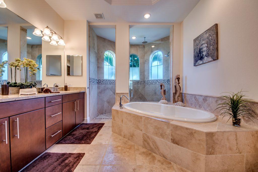 Badezimmer Ferienvilla Cape Coral Florida