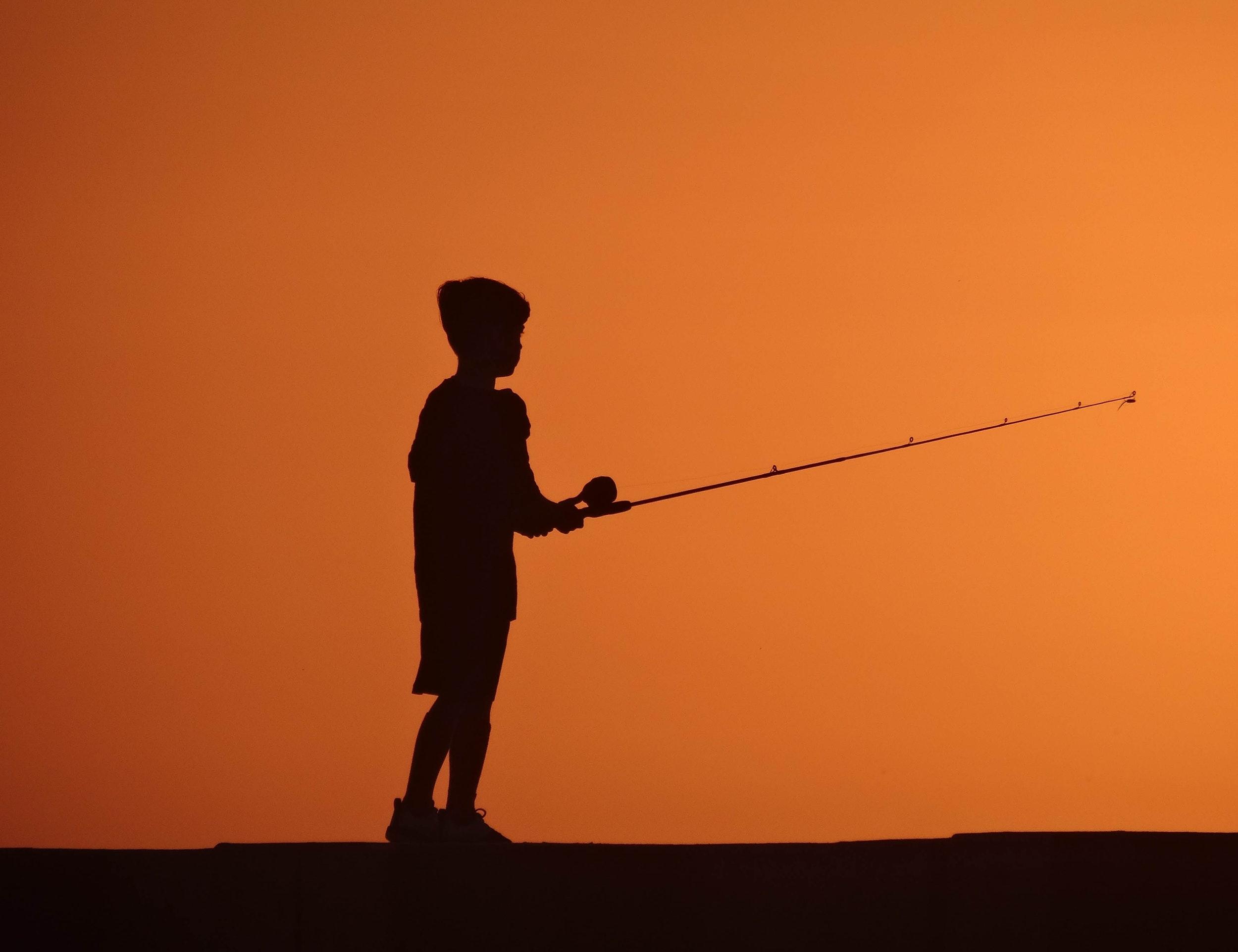 angelnder junge in Cape Coral