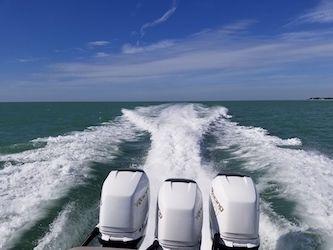 Motorboot im Mexikanischen Golf