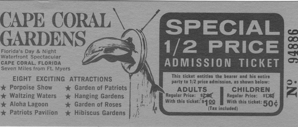 Eintrittskarte in Carden Cape Coral